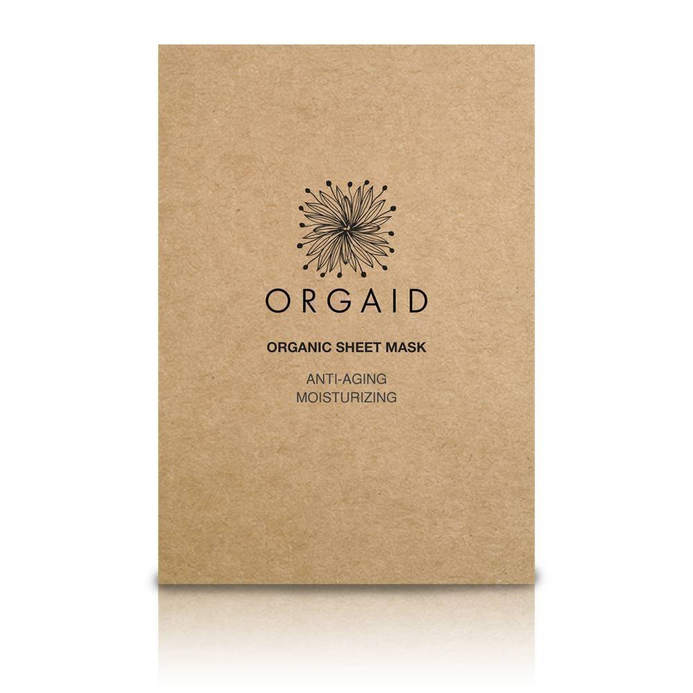 sheet mask, anti aging, organic,orgaid, europe, eminessences