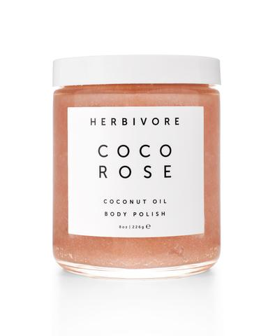 coco rose body scrub, europe, france, belgique, herbivore botanicals, detox, scrub, gommage