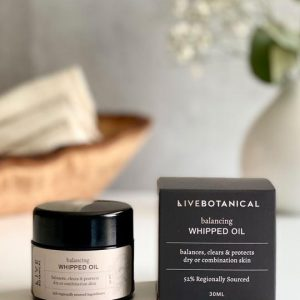 whipped oil, live botanical