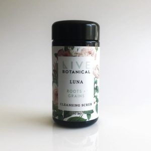 live botanical, cleansing scrub, rhassoul, detox, europe, france, belgique, spain, netherland